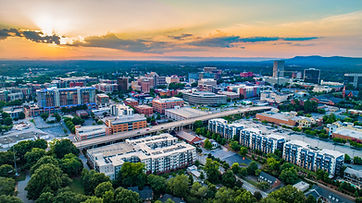 Greenville South Carolina Sunset Aerial.