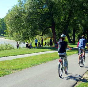Cycling the Humber River Trial