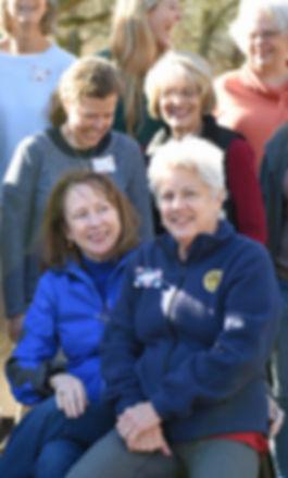 Women's Retreat smiles before group phot