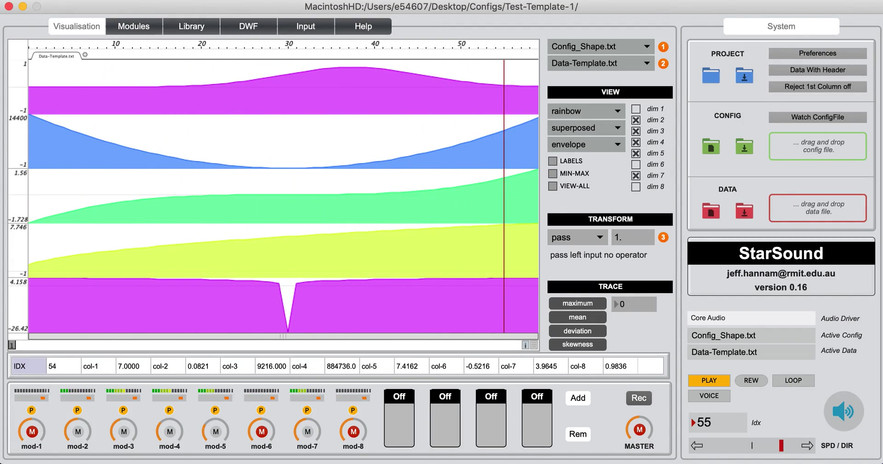 StarSound Continuous Sonification video