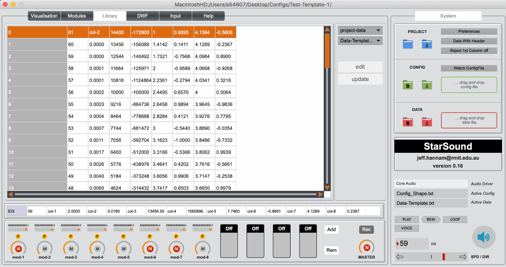 StarSound Data Inspector