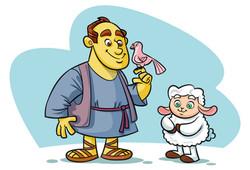 Davi e a ovelhinha