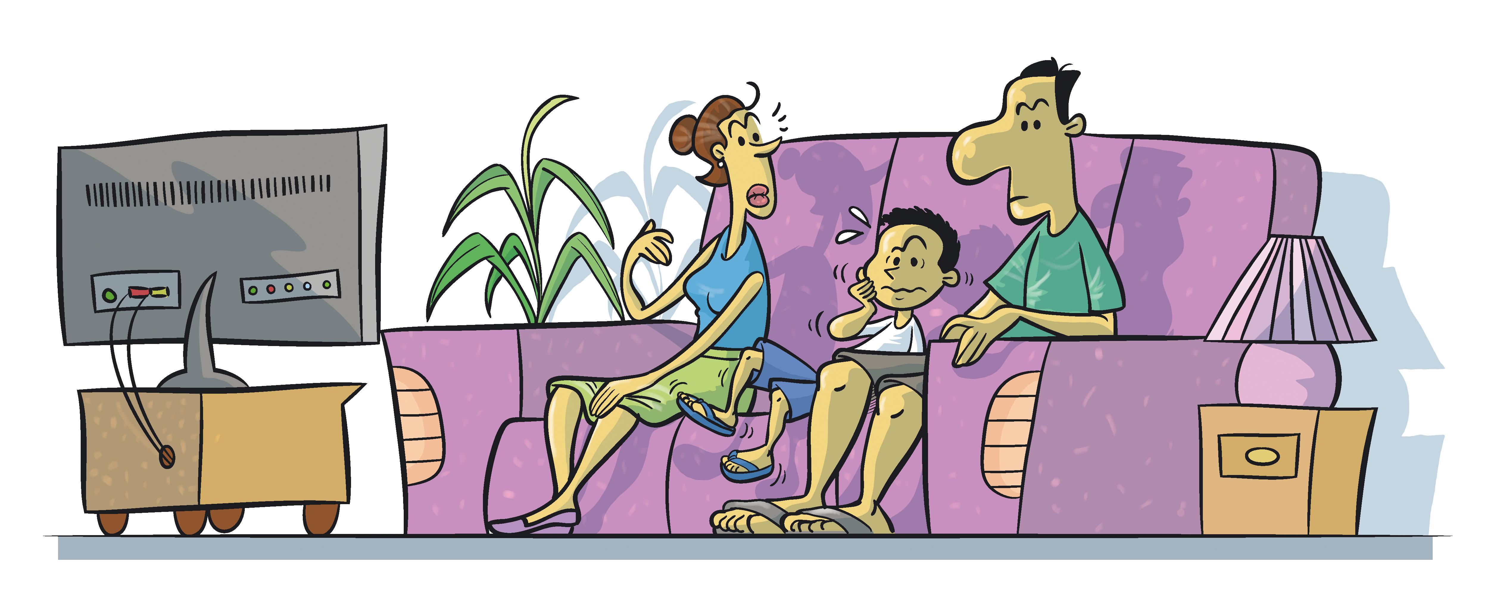 Família e a TV
