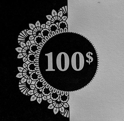 Certificat 100$