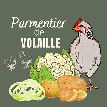 Parmentier de volaille, oignon caramélisé et purée de PdeT au chou fleur
