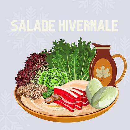 Salade de magret de canard séché