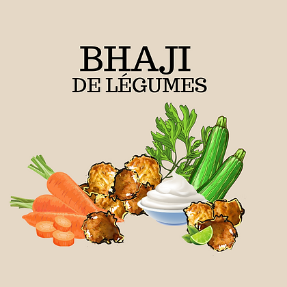 Bhaji de légumes + sauce yogourt et coriandre