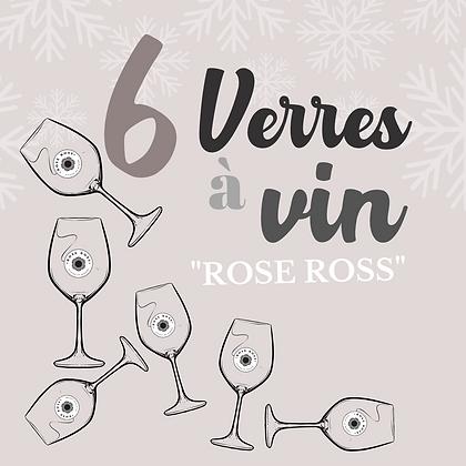 """6 verres à vin """"Rose Ross"""""""