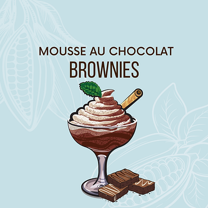 Mousse au chocolat + brownies