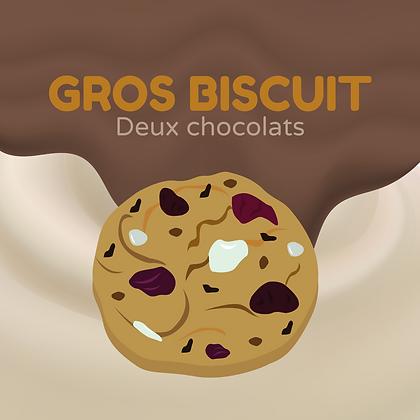 Gros biscuit aux 2 chocolats