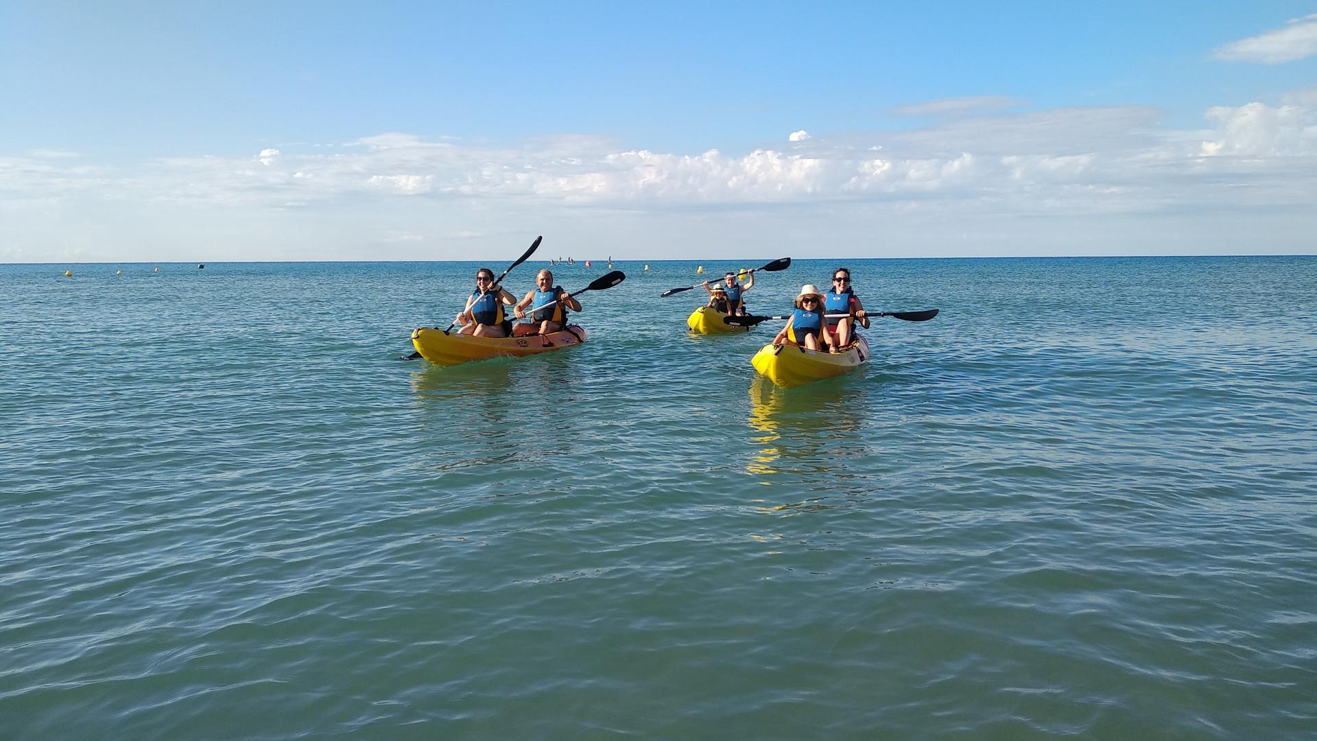 Clase de Kayak Castelldefels