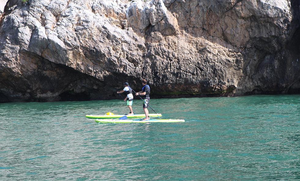 Excursión en Paddlesurf por las costas del Parque Natural Garraf