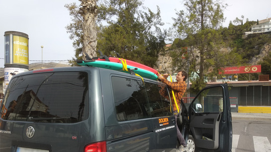 Transportation to Surf Lesson in Castelldefels