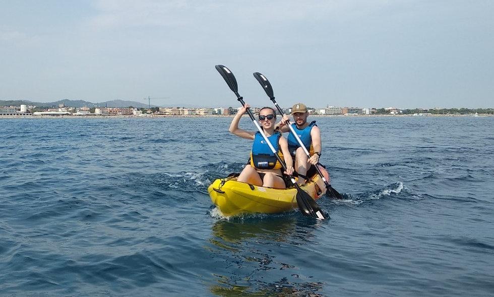 Clase de Kayak en Castelldefels