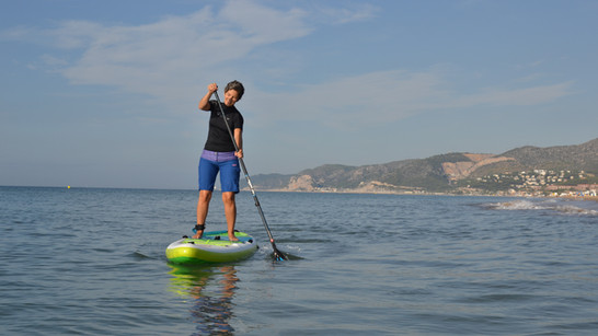 Clase de Paddlesurf En Castelldefels