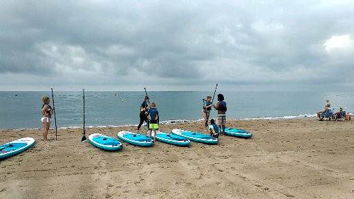 Excursion de paddlesurf en Castelldefels