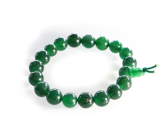 Dark Green Jade Mala