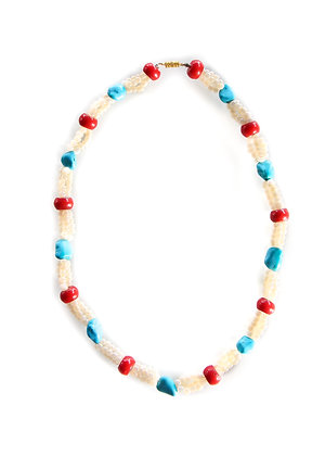 Coral Turquoise Bead Necklace