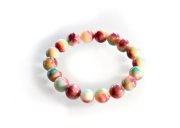Colorful Jade Mala
