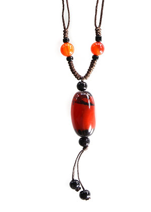 Dark Orange Black Pendant