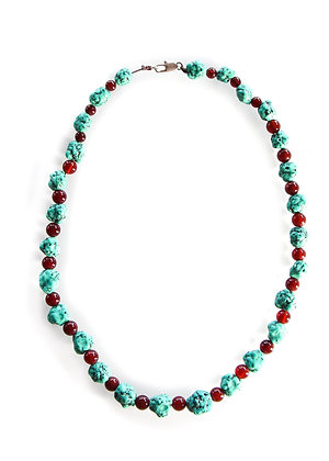 Turquoise, Agate Necklace