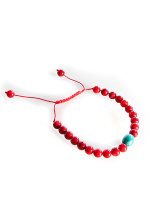 Red Turquoise Mala