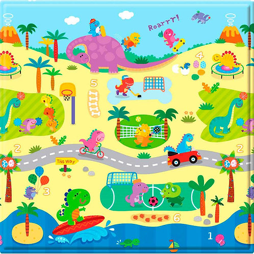 FL TAPETE PLAY MAT PEQUENO 125X125X1CM DINO SPORTS SAFETY