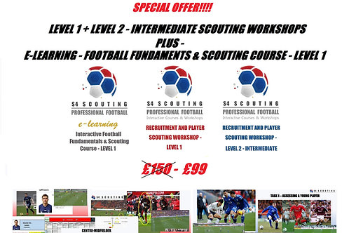 RECRUITMENT AND PLAYER SCOUTING WORKSHOP LEVEL 1 & 2 +Interactive level 1
