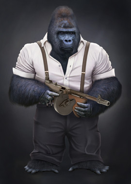 Gorilla realistic illustration
