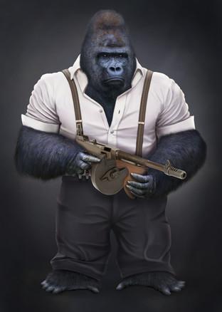 Gorilla realistic illustration