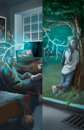 Cover for the book. Lightning