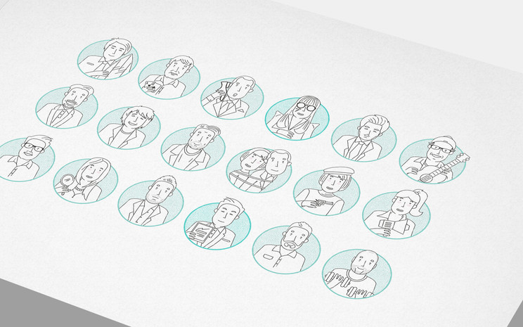 Branding photos for company avatars