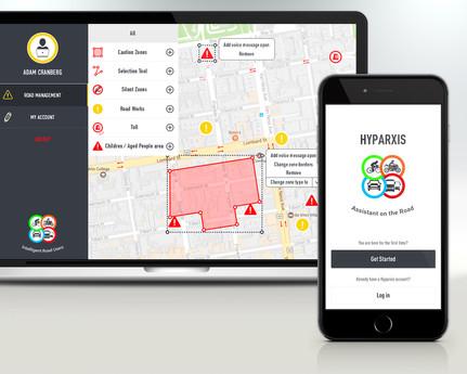 Hyparxis app/web design