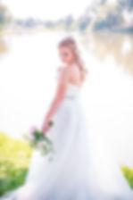 Colorado Wedding Photography | Britni Girard Photography | Romantic Bridal Portraits by lake