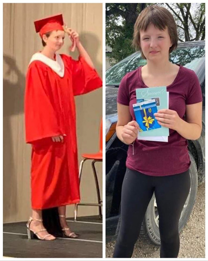 2020 Childhood Cancer Survivor Graduate Kylie!