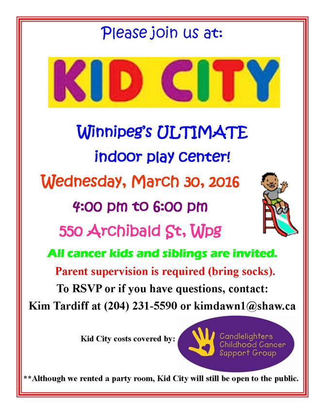 JOIN US AT KID CITY!!!
