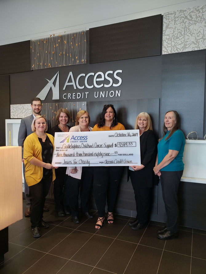 ACCESS CREDIT UNION JEANS FOR CHARITY DONATION!!!