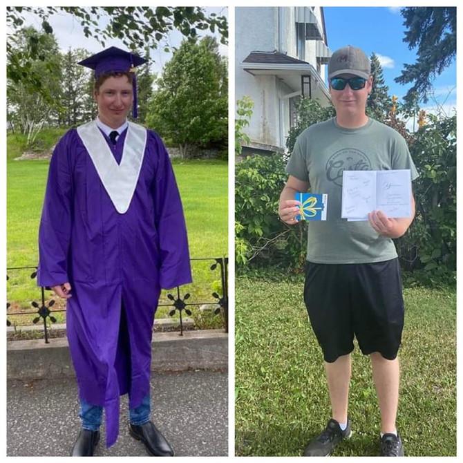 2020 Childhood Cancer Survivor Graduate Dustin!