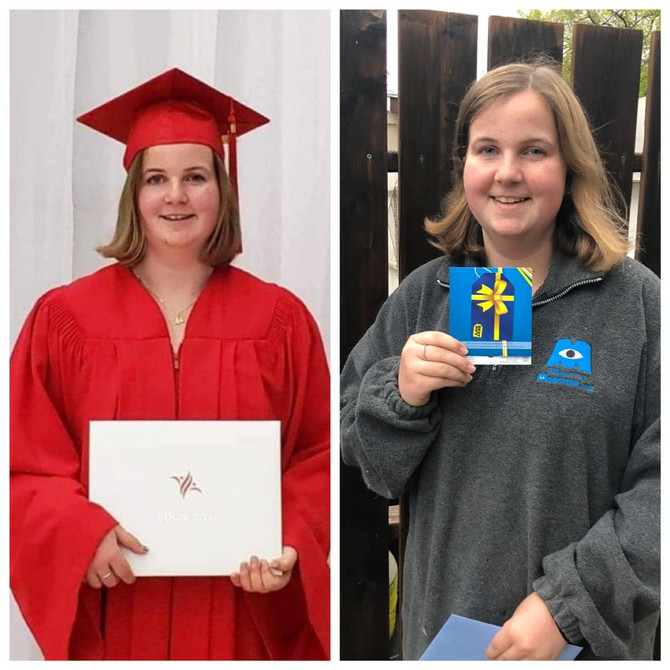 2020 Childhood Cancer Survivor Graduate Madelaine!
