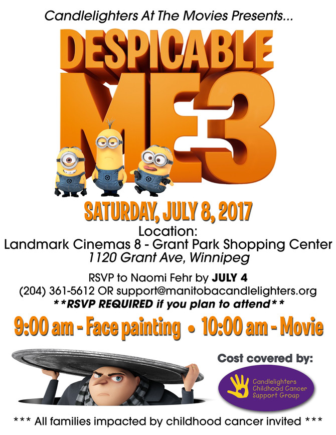 CANDLELIGHTERS AT THE MOVIES PRESENTS DESPICABLE ME 3