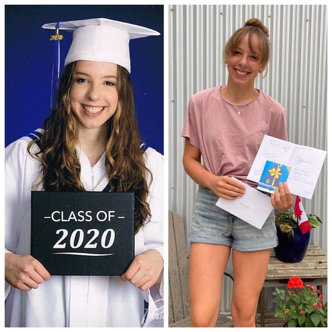 2020 Childhood Cancer Survivor Graduate Katie!