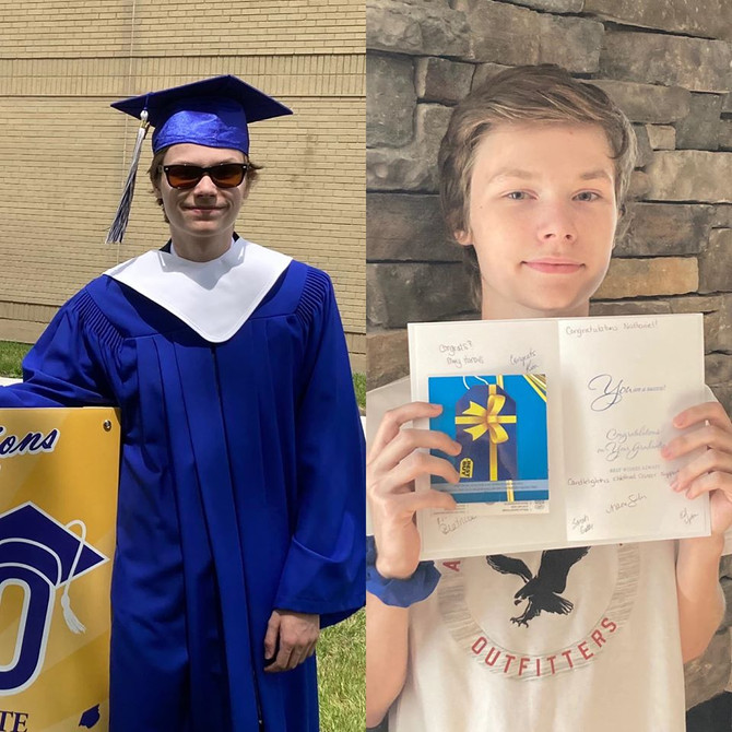 2020 Childhood Cancer Survivor Graduate Nathaniel!