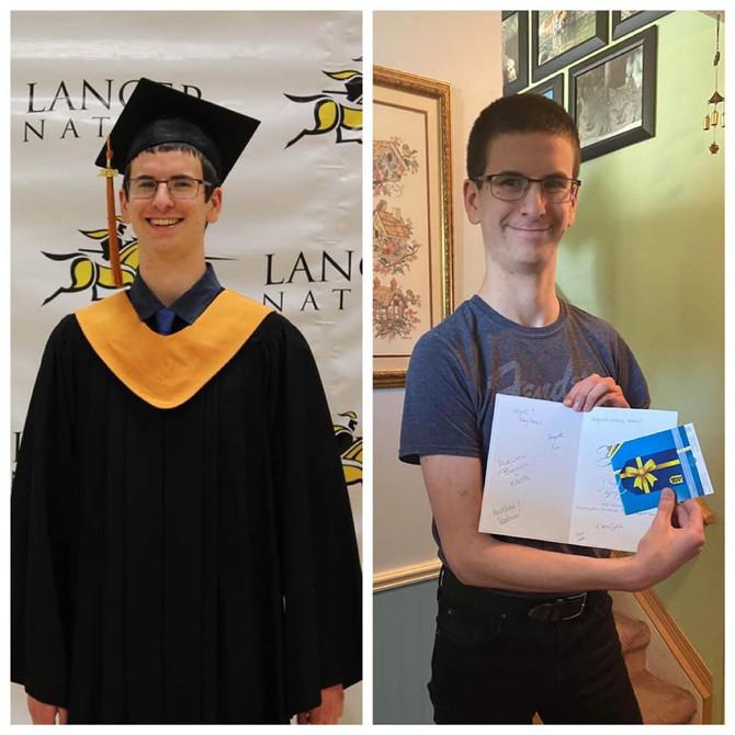 2020 Childhood Cancer Survivor Graduate Adam!