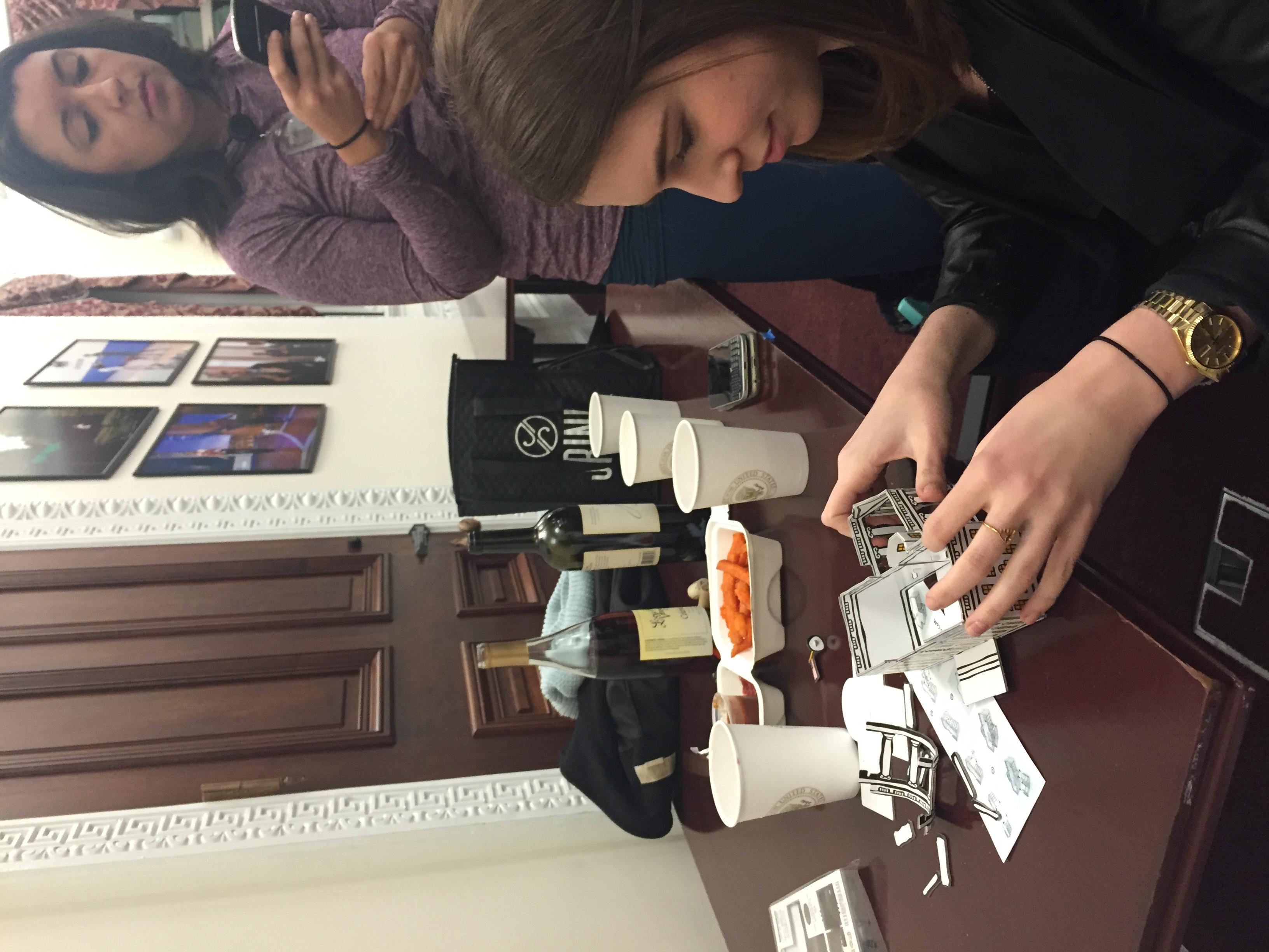 Elle & Molly & Nita build model WH