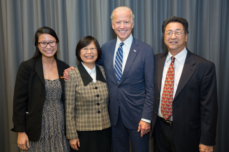 The Woo Family & VP Biden