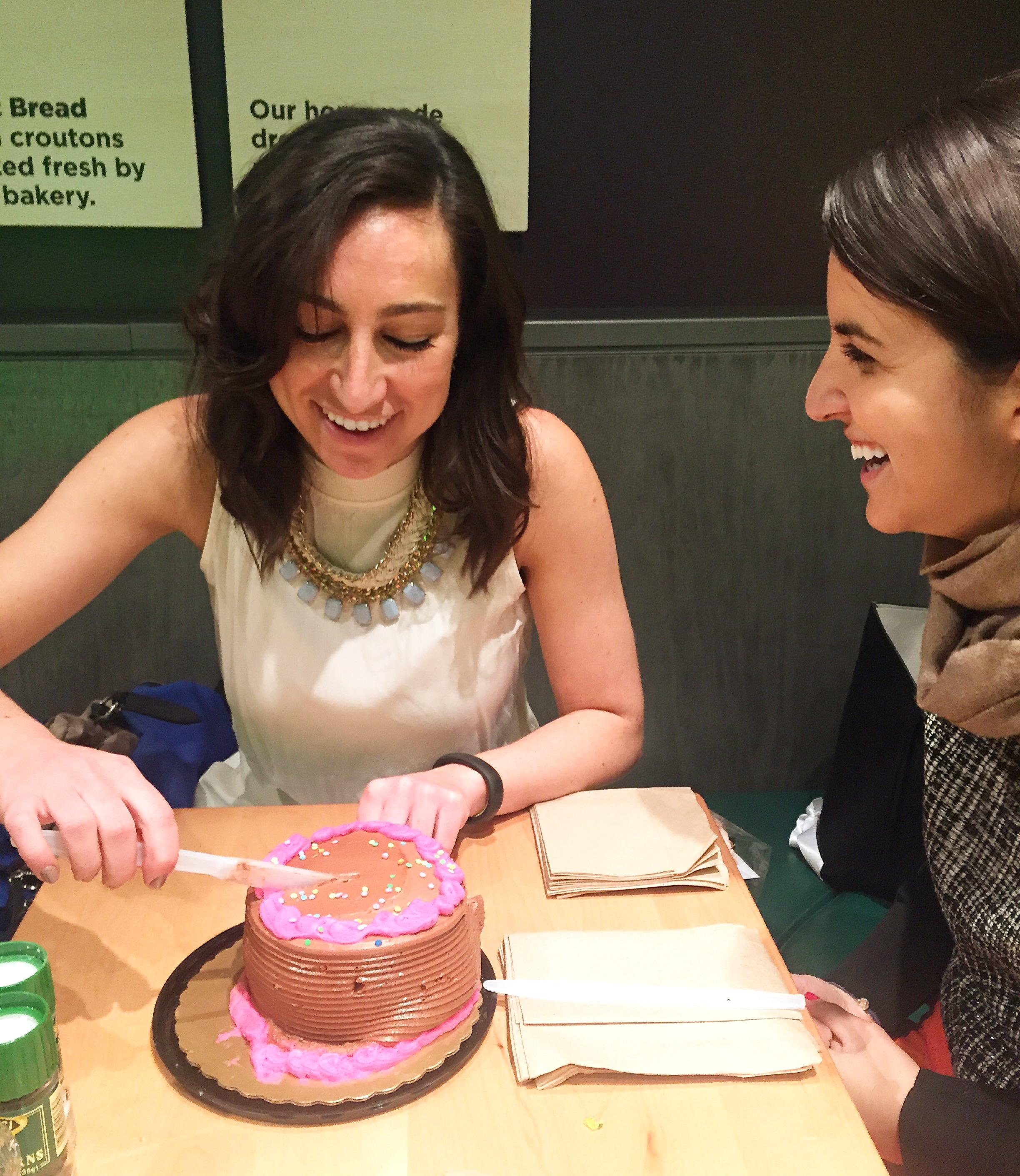 Noemie celebrating Taylor's birthday