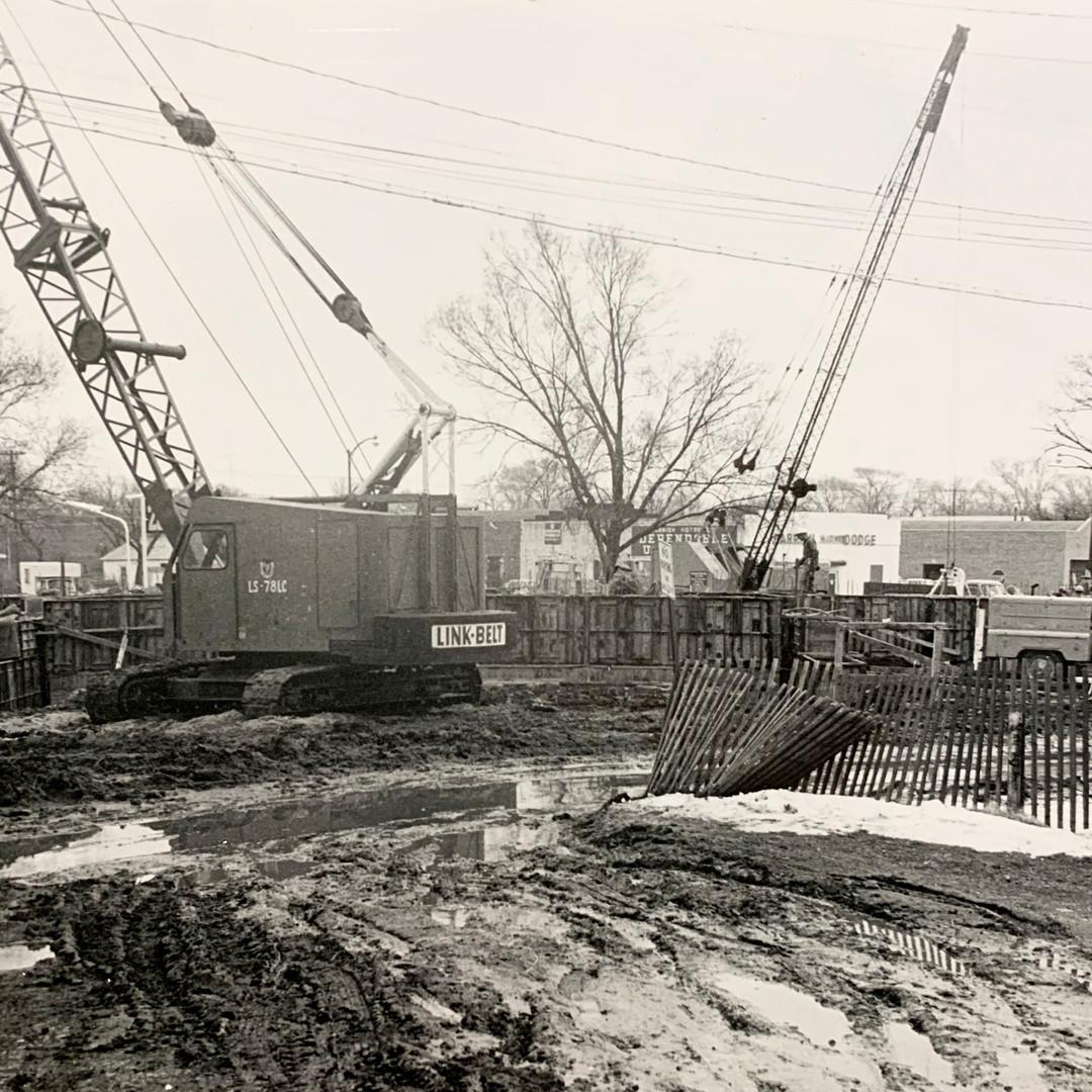 Crane on Job Site