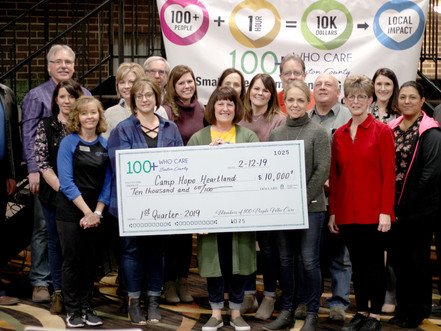 Camp Hope Heartland Receives Over $10,000 from 100+ People Who Care Group