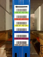 Colour coded racking location labels
