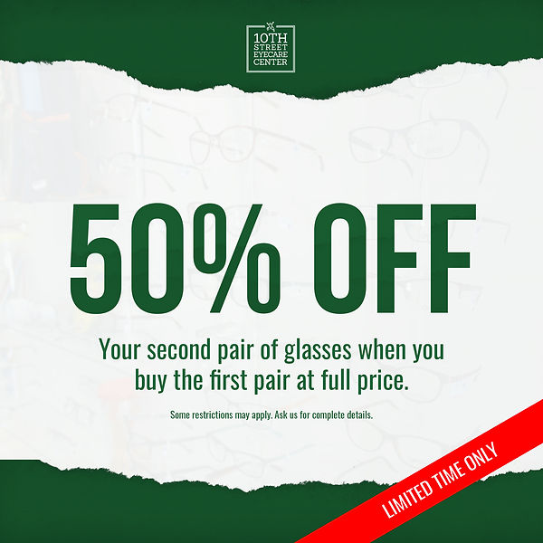 Pair 50 Special 50 Percent Off Glasses in Great Bend Kansas.jpg